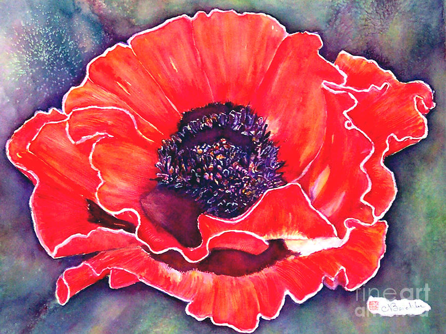 Red Flowers Painting - Red Poppy by Norma Boeckler