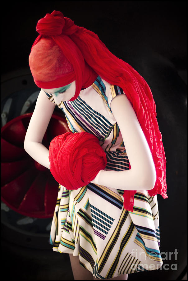 Fashion Photograph - Red Prayer by Tina Zaknic - Xignich Photography