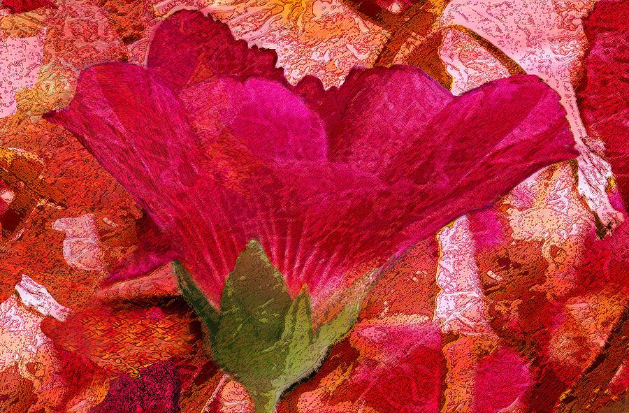Flower Digital Art - Red Queen by Tom Romeo