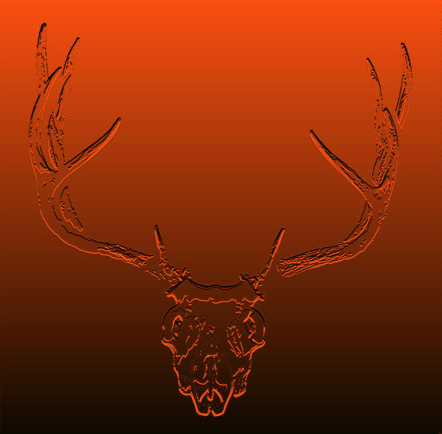 Deer Artwork Photograph - Red Rack by Brent Easley