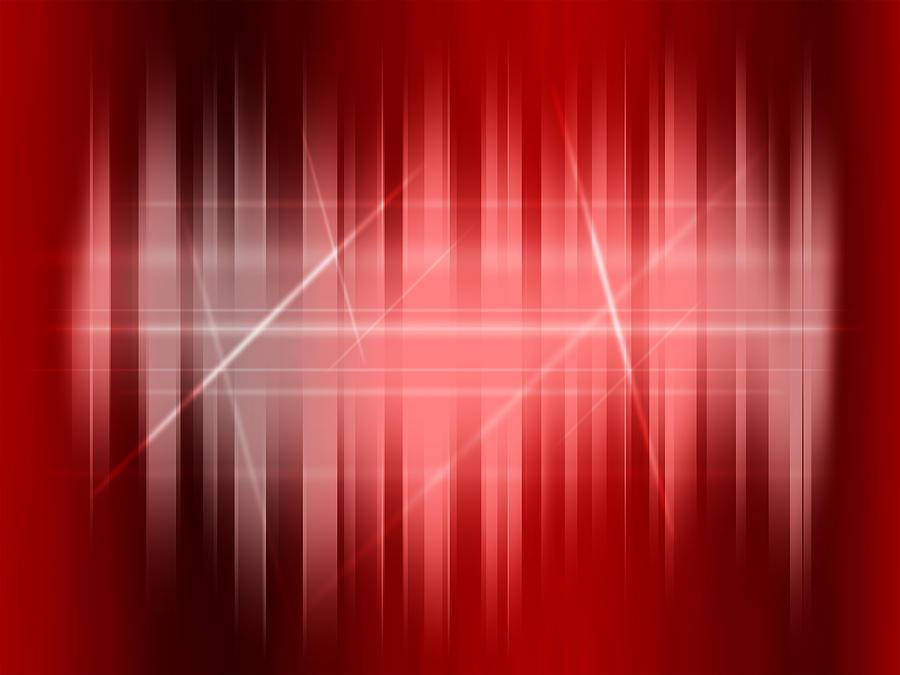 Red Digital Art - Red Rays by Michael Tompsett