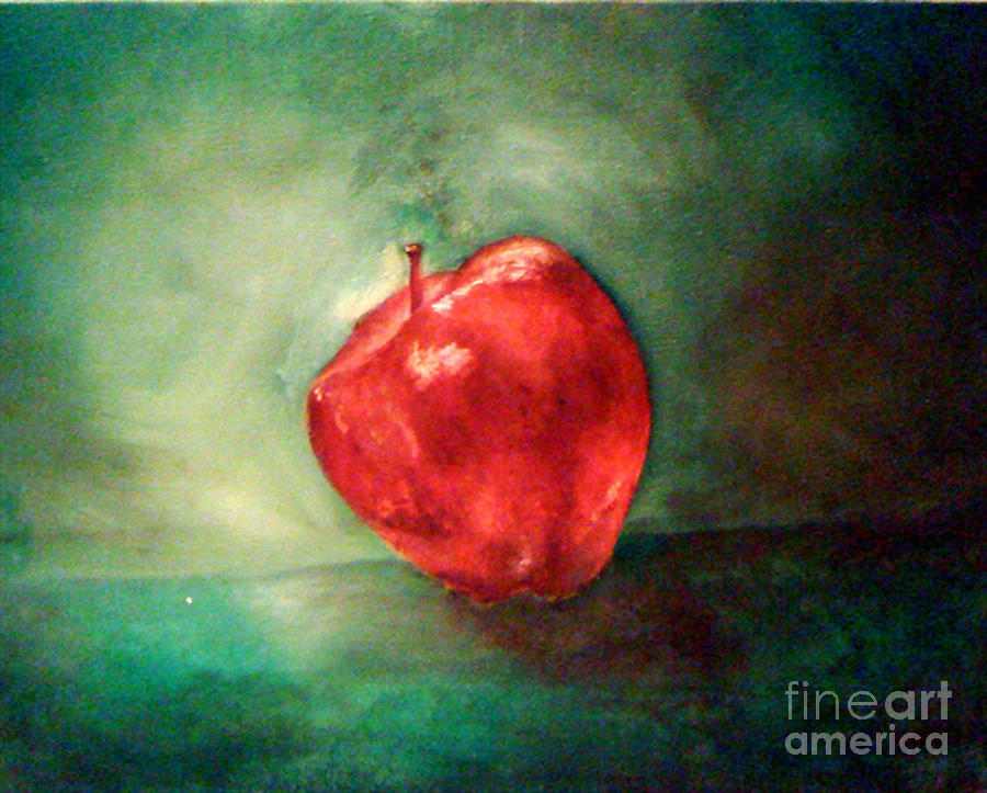 Apple Painting - Red Red Apple by Simonne Mina