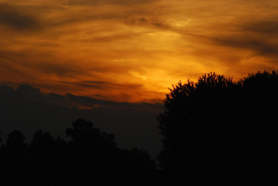Red Photograph - Red Red Sunset by Wanda Jesfield
