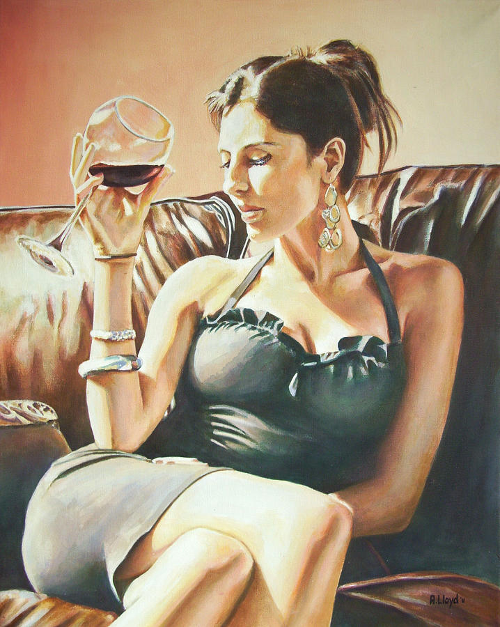 Red Painting - Red Red Wine by Andy Lloyd