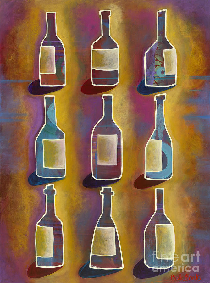 Red Wine Painting - Red Red Wine by Carla Bank