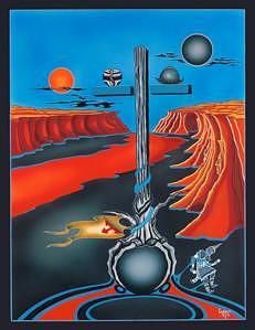 Red River Painting by Garrett Testi