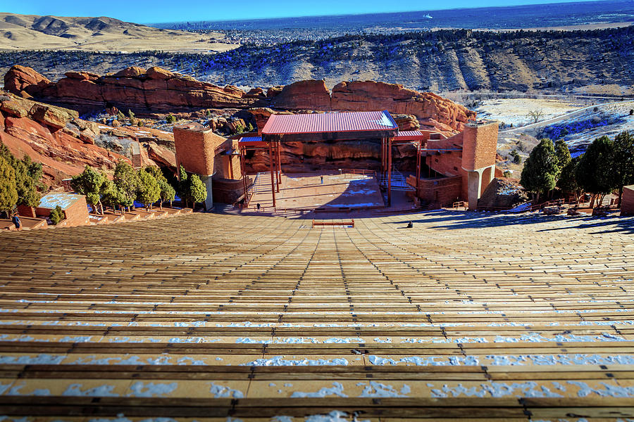Red Rock Amphitheater Photograph - Red Rock Amphitheater by Barry Jones