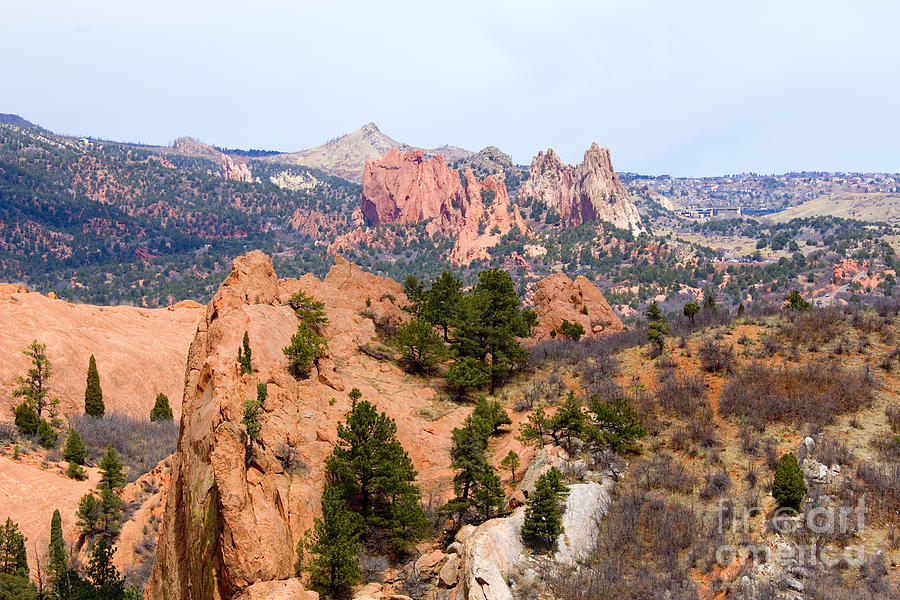 Red Rock And Garden Of The Gods Photograph
