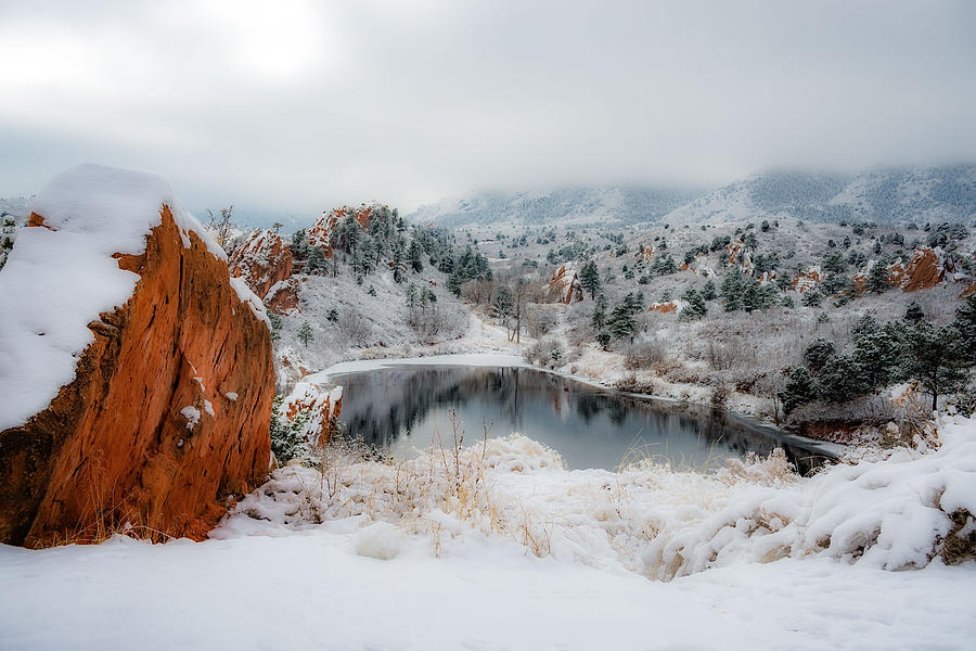 Red Rock Canyon In Winter 2