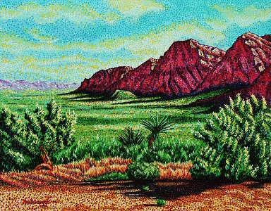 Landscape Painting - Red Rock Canyon by Max R Scharf