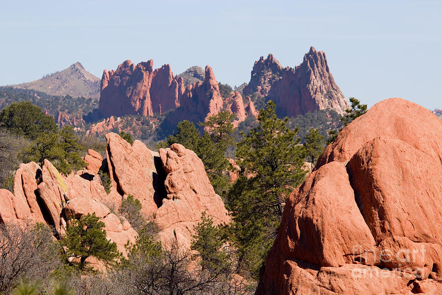 Red Rock Canyon Open Space Park And Garden Of The Gods Photograph