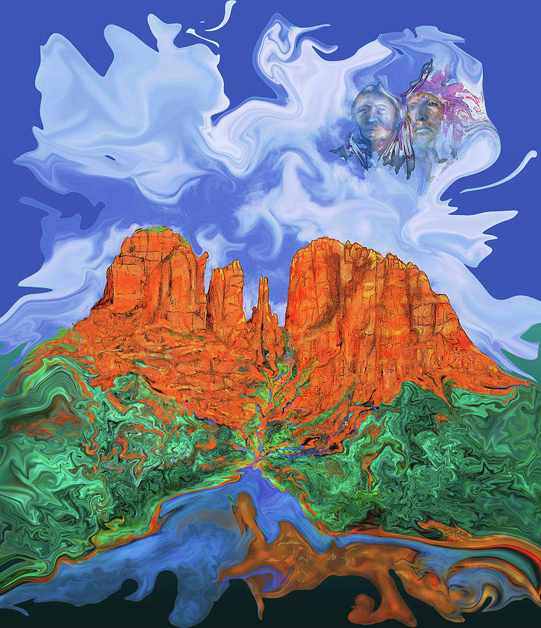 Sedona Painting - Red Rock Crossing by Martin Hardy