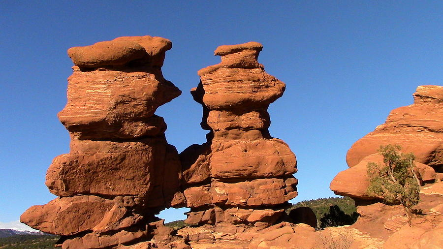 Rock Formation Digital Art - Red Rock Formation  by Joe Schanzer