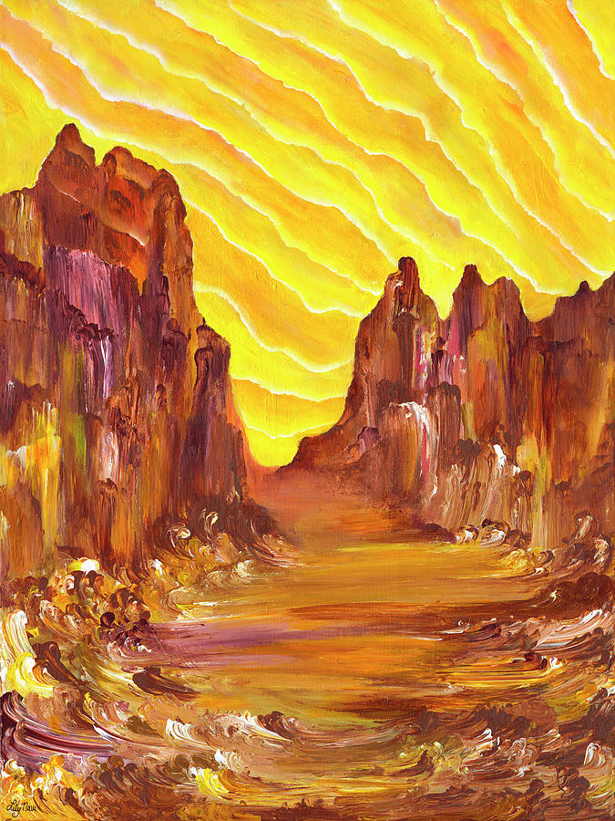 Red Rocks Painting - Red Rock Light I by Lily Nava