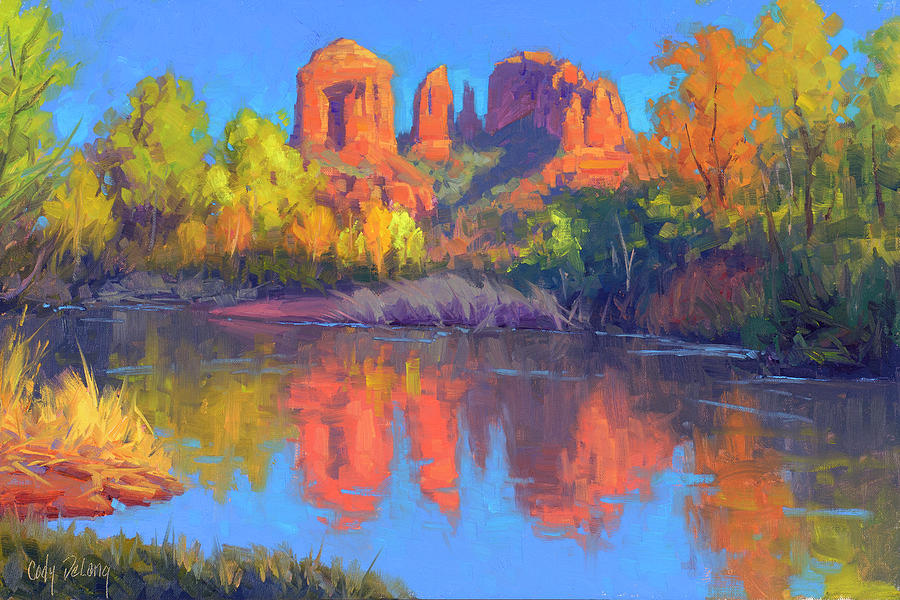 Cody Delong Painting - Red Rock Oasis by Cody DeLong