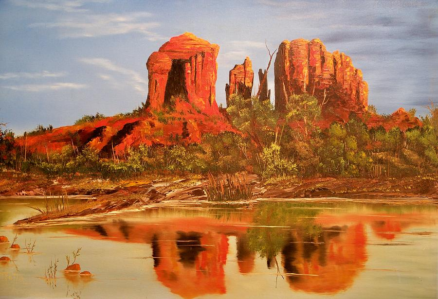 Rocks Painting - Red Rock by Patrick Trotter