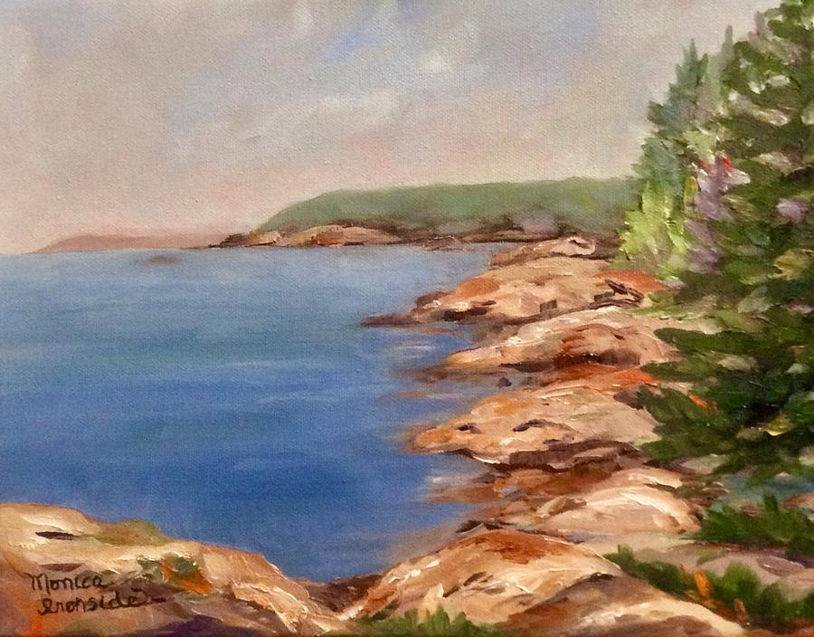 Original Painting - Red Rock Point, Killarney by Monica Ironside