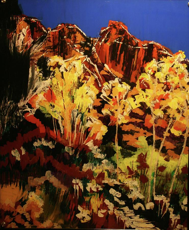 Red Rocks Aspen by Marilyn Quigley