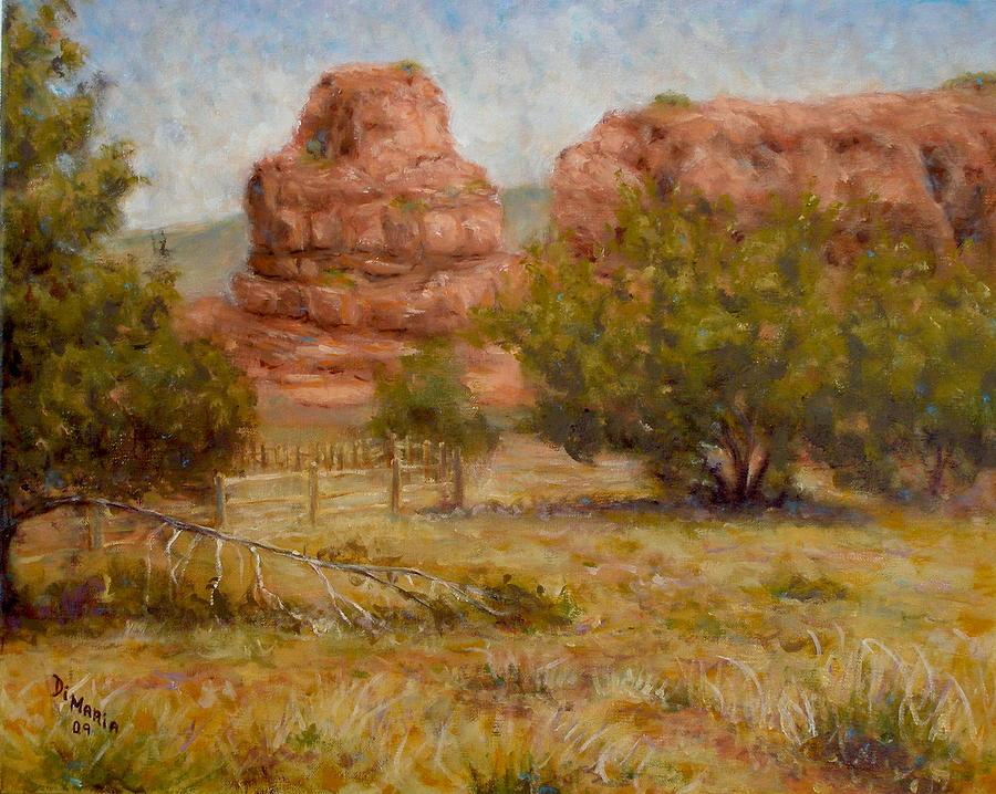 Realism Painting - Red Rocks Below Jemez Springs by Donelli  DiMaria