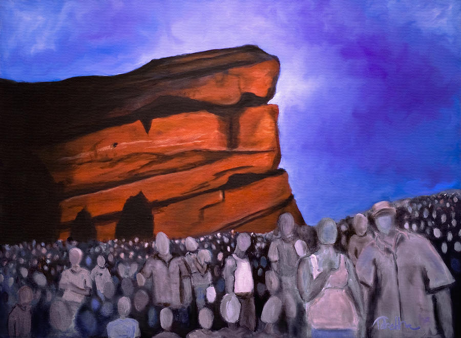 Red Rocks Painting - Red Rocks by Tabetha Landt-Hastings