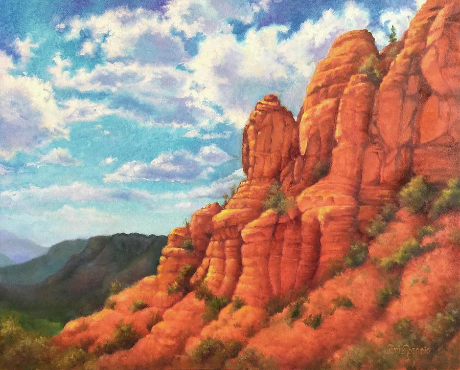 Sedona Painting - Red Rocks by Teri Rosario