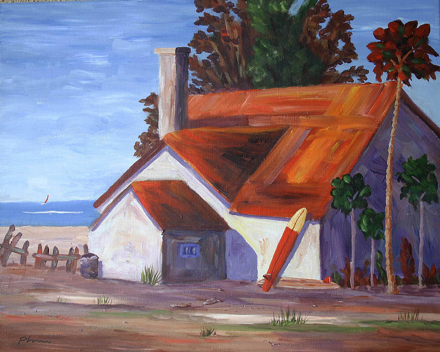Beaches Painting - Red Roof by Bob Phillips