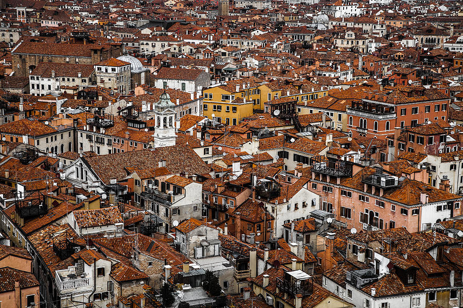Red Roofs Of Venice Photograph