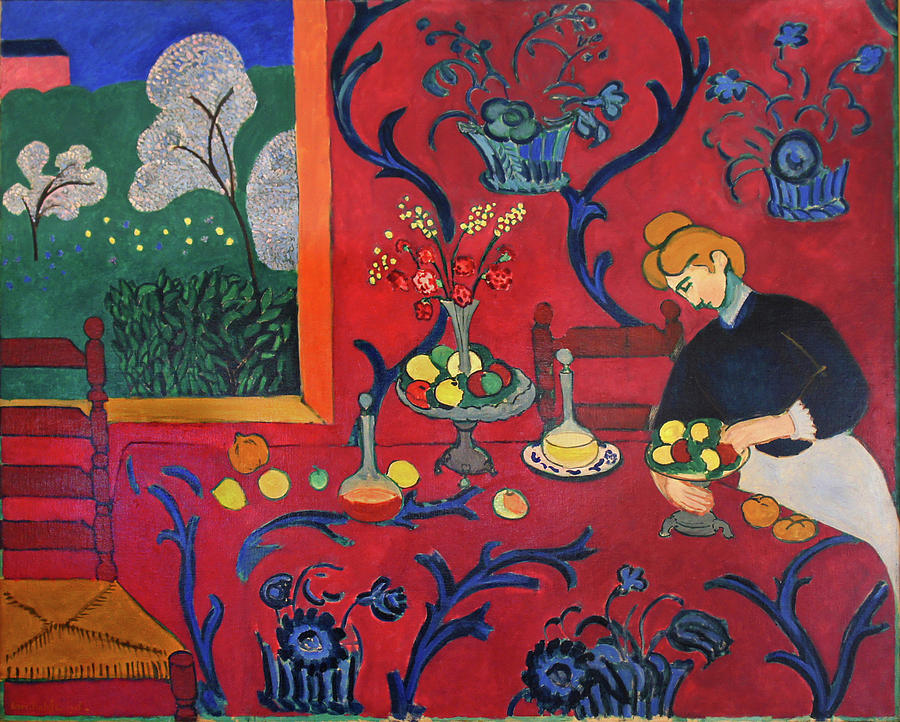 Red Room Painting by Henri Matisse