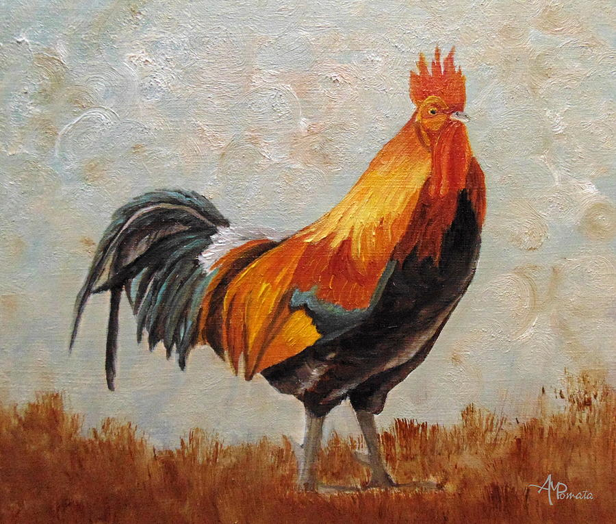big red rooster designed - 900×765