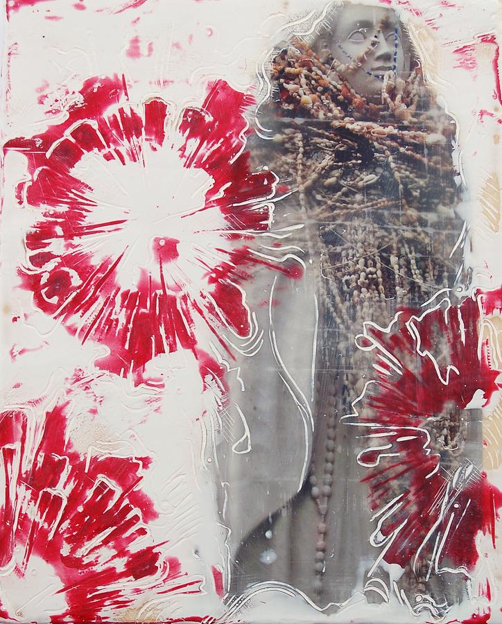 Photograph Painting - Red Rosary by Kim Quinn Nicholson