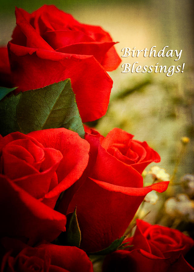 Red Rose Birthday Greeting Card Photograph By Joni Eskridge
