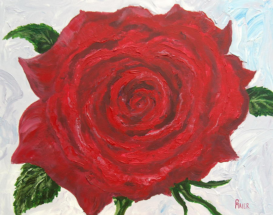 Rose Painting - Red Rose by Pete Maier