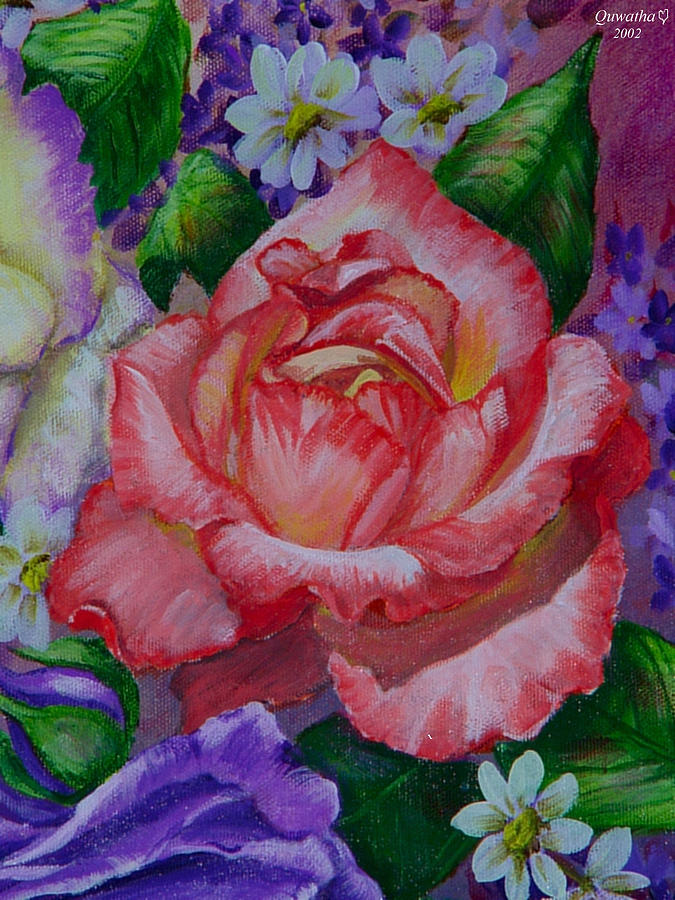 Rose Painting - Red Rose by Quwatha Valentine