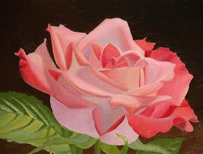 Rose Painting - Red Rose by Thaw Malin III