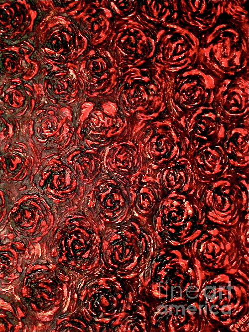 Textured Painting - Red Roses Floating  by Elizabeth Gomez