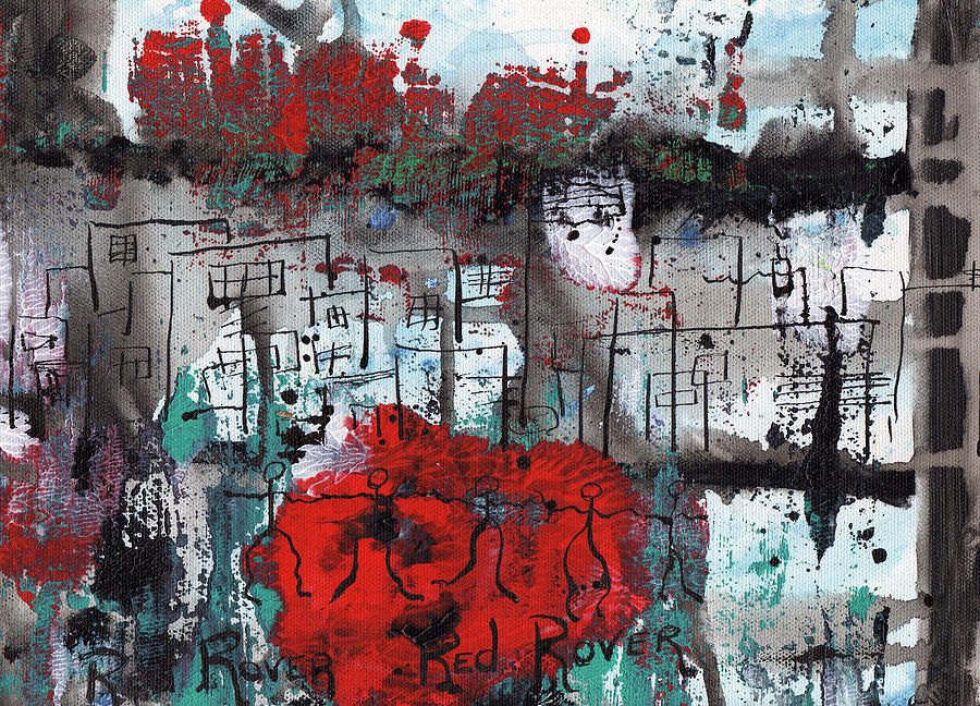 Abstract Painting - Red Rover  Red Rover by Wayne Potrafka