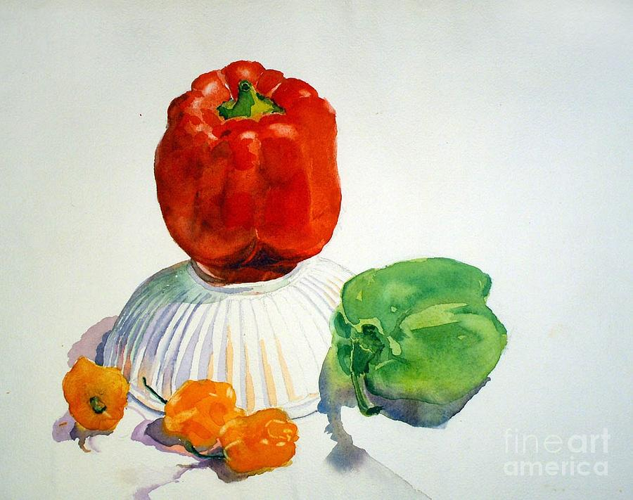 Peppers Painting - Red Rules by Elizabeth Carr