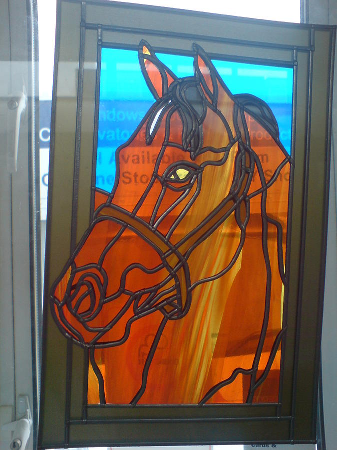 Horse Glass Art - Red Rum by Robin Jeffcoate