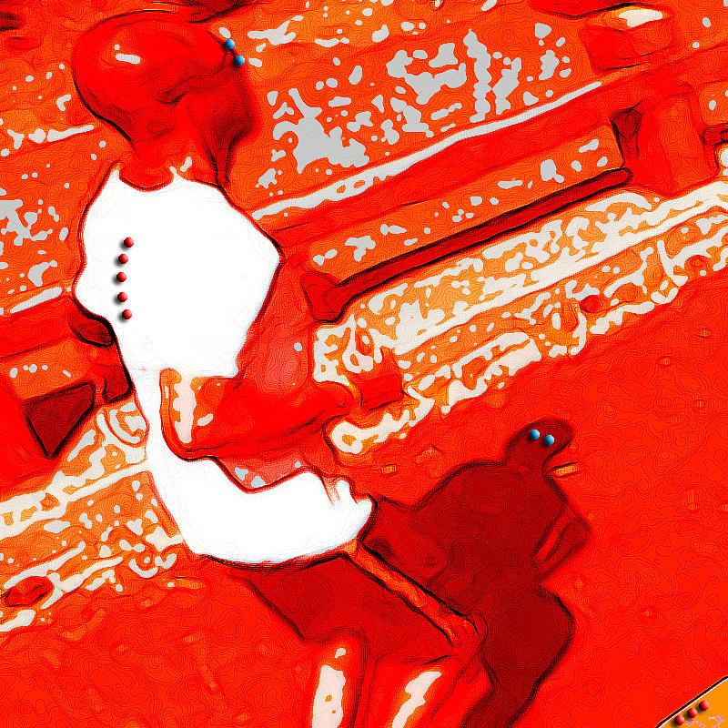 Red Run Digital Art by Nils Denker