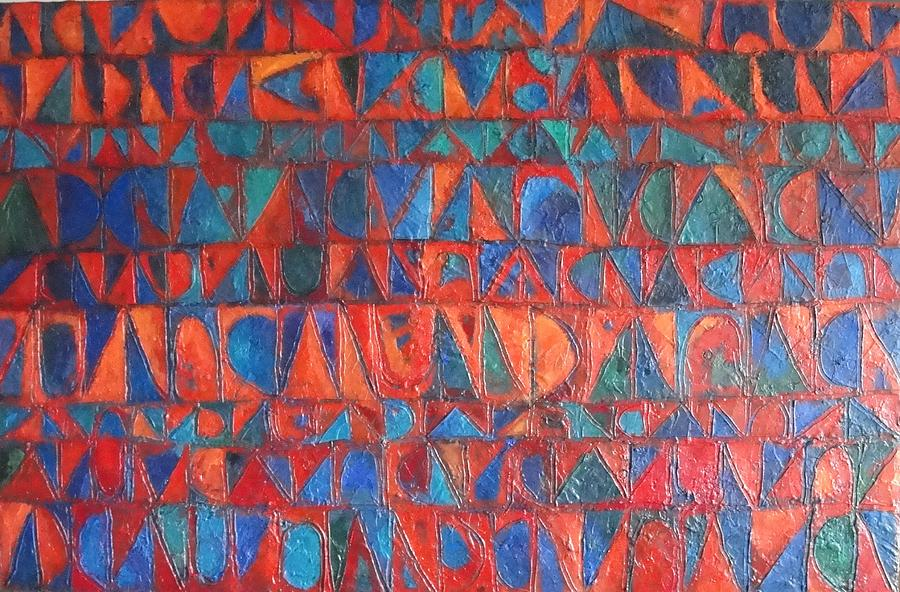 Abstract Painting - Red Sails At Sunset by Bernard Goodman