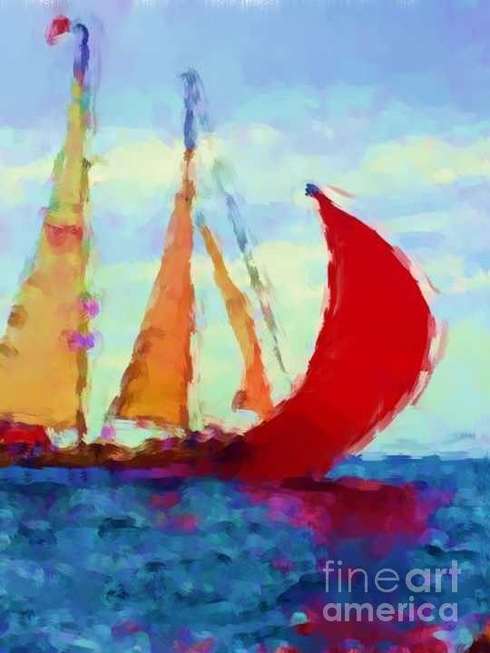 Red Sails by Duygu Kivanc