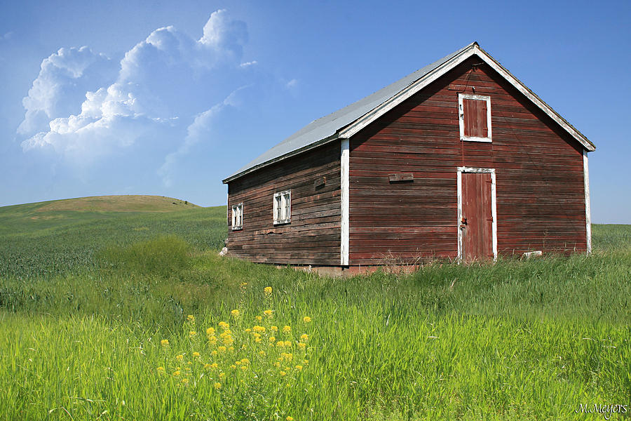 Barn Photograph - Red Shed by Melisa Meyers