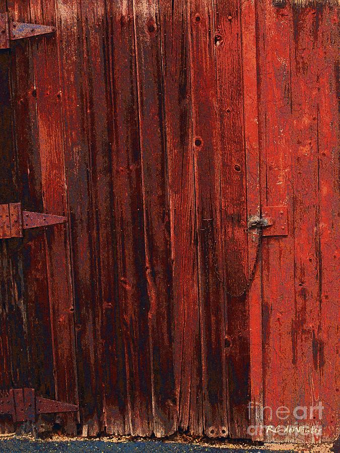 Barn Painting - Red Shed by RC deWinter