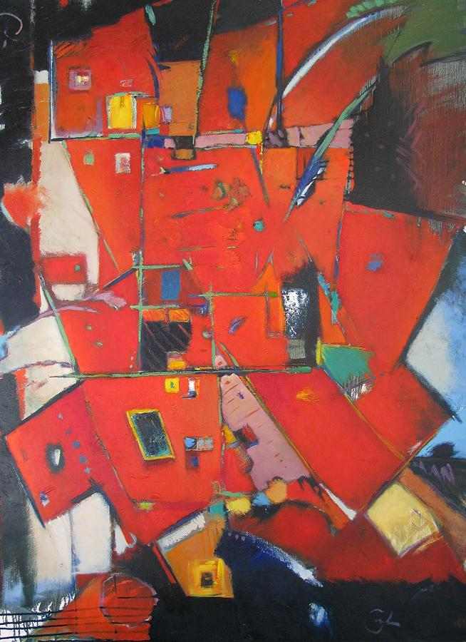 Red Painting - Red Shift by Gary Coleman