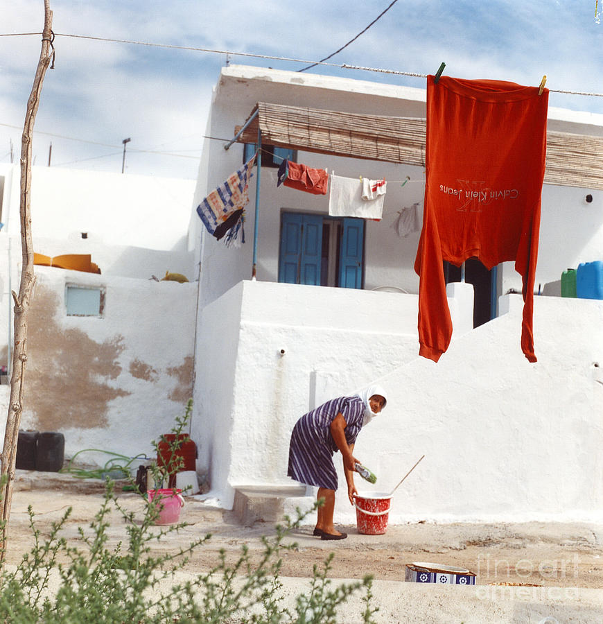 Greece Photograph - Red Shirt by Andrea Simon