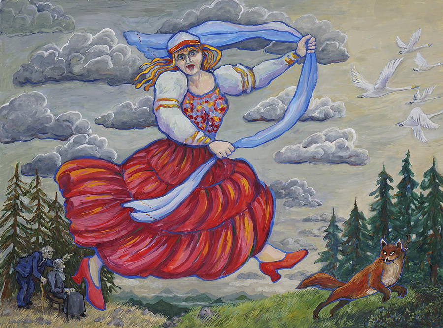 Red Shoes and Swans by Shoshanah Dubiner