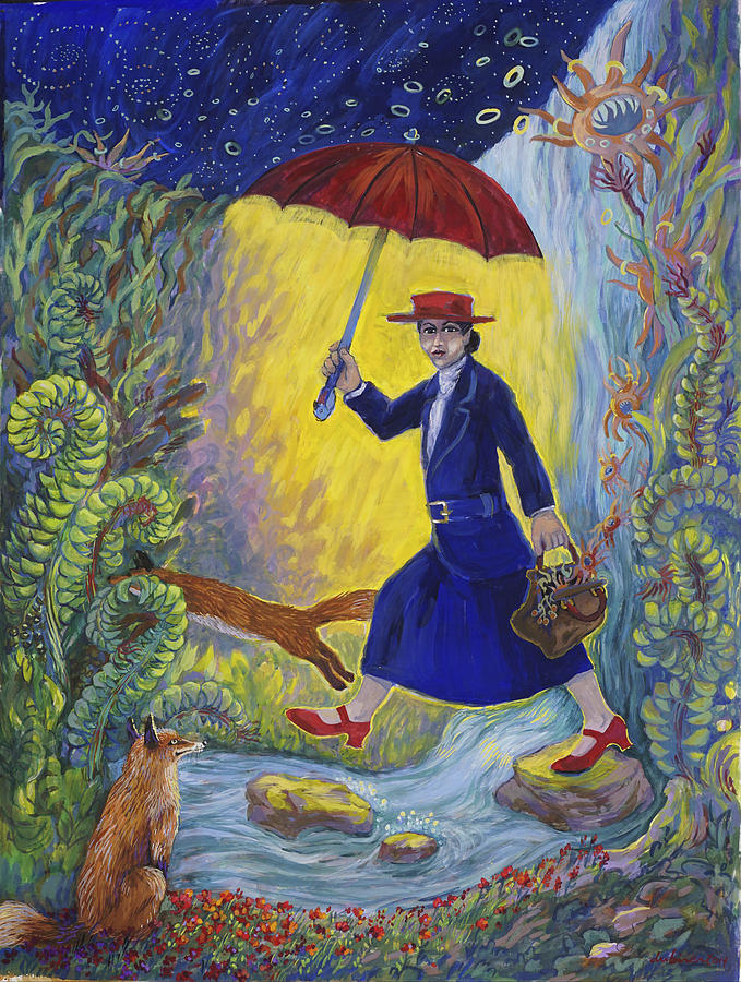 Red Shoes Mary Poppins by Shoshanah Dubiner