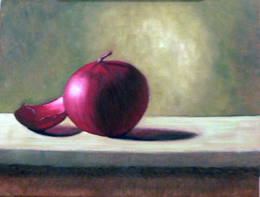 Still Life Painting - Red Skin by Bart  Dluhy