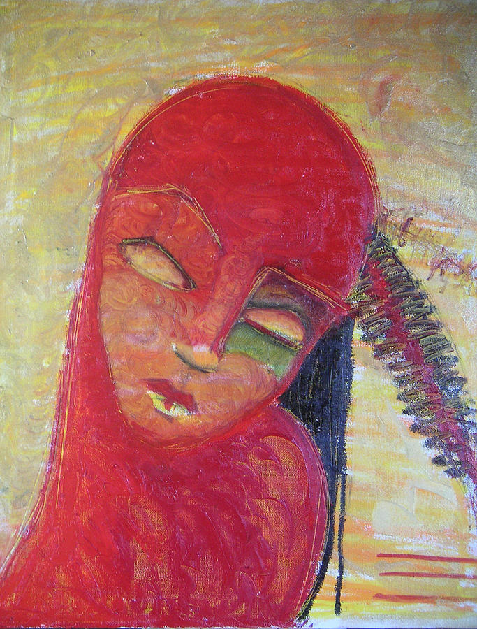 Portrait Painting - Red Skin by Erika Brown