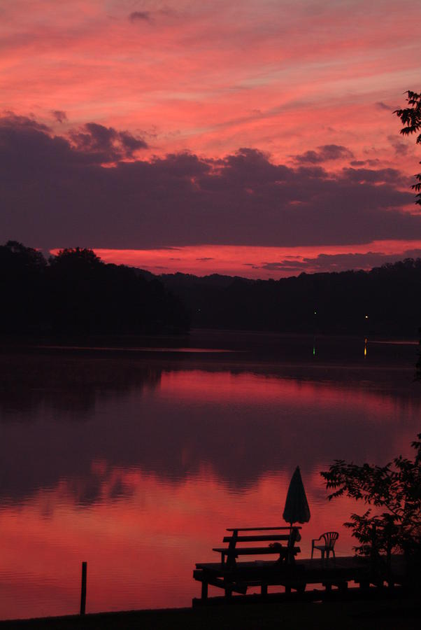 Nature Photograph - Red Sky At Morning---3 by Rich Caperton